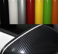 achat en gros de carbon fiber sticker for car-enveloppement de vinyle autocollant de voiture de film de fibre de carbone 4D bulles 152cmx30cm épaisseur 0.18mm air libre