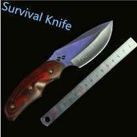 Wholesale Survival Knife With Nylon Bag Tools Hunting camping hiking knife Knives with box A397