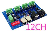 Wholesale 12 CH Easy dmx512 dimmer Controller CH DMX decoder LED channel group RGB output controller DMX512 drive