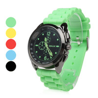 Fashion assorted band pins - Unisex Casual Style Silicone Band Quartz Wrist Watch mens womens sport jelly candy watches Assorted Colors big silicon watch wristwatch sale