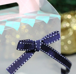 Wholesale navy blue white jumper dashline rib knitting belt ribbon snack cookie box gift decoration