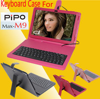 Keyboard Case 10.1'' other 10pcs PU Leather Keyboard Case Cover With Stand For Pipo M9 Pro 3G Wifi RK3188 Quad Core Tablet PC