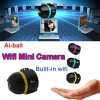 al por mayor cámara de vigilancia inalámbrico más pequeño-Ai-ball más pequeño del mundo Ultraportable inalámbrico Mini Wifi cámara de vigilancia IP escondido cámara espía para Moblie iPhone Tablet PC teléfono