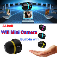 Wholesale Ai ball World s Smallest Ultraportable Wireless Mini Wifi Surveillance Camera IP Hidden Camera Spy For Moblie iPhone Tablet PC telephone