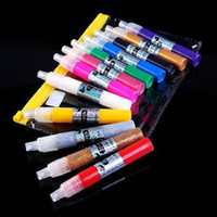 Wholesale 12 Color D Paint Pen UV Gel Acrylic Design Nail Art Polish for Creative DIY drawing