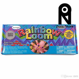 Wholesale Zorn Store Rainbow Loom Bands with Metal Hook Rubber Band loom bands kids toys Safe and nontoxic