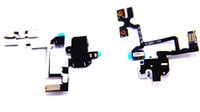 Wholesale For iPhone G S OEM Headphone Audio Jack Ribbon Connector Power Volume Switch Flex Cable Replacement Repair Parts Black amp White