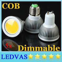 Wholesale LEDVAS W GU10 Led Cob Led bulb Spotlights Lamp lm High Power Dimmable E27 E26 E14 GU5 MR16 Warm Cool White Led Bulbs Light