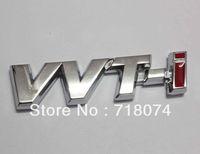 Emblems Metal Toyota Free shipping Car rear chrome Decal Emblem Sticker auto 3D Logo badge toyota vvt-i vvti Racing motorbike parts fashion style