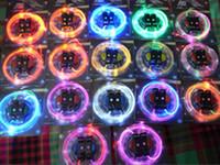 Wholesale LED Flashing Shoe Lace Fiber Optic Shoelace Luminous Shoe Laces Light Up Flash Glowing Shoes lace pairs