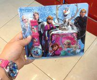 Wholesale Frozen Wallet and Watch Set Romance watch children watch cartoon watches suit