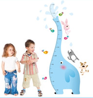 other  baby elephants for sale - Hot Sale New Cute Blue Elephant Care Of Baby Children Measure Height For Children Room Removable PVC Wall Stickers