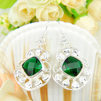 Whosale - - Top Quality and hot sell green crystal 925 Silver ...