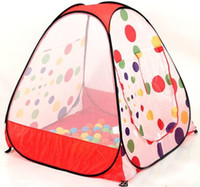 Tents Animes & Cartoons Polyester Free shipping,Childern kids Playing In&Outdoor Pop Up House Play Game Tent baby playhouse Castle Canopy toy multi-function HT311