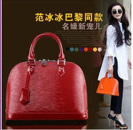 Wholesale colors Star Style Woman Leather Shell Bags Handbag Totes Candy Color Toothpick Grain Handbags OL Business Bags Cross Body Bag