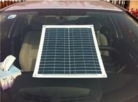 automobile cigarette lighter - 19w w flexible solar panel v easy install solar panel for outdoor Diy Car Boat charger free gift cigarette lighter