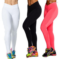 Wholesale High Waist Candy Colours Solid Leggings Women s Sports Pants Fashion Elastic Streched Yoga Fitness Gym Leggings