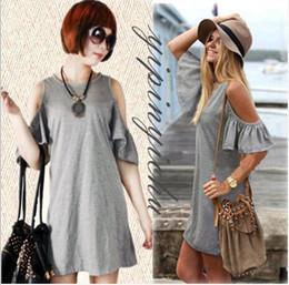 Wholesale summer dress woman clothes butterfly sleeve cotton strapless dress women women s beach dresses plus size XXXL