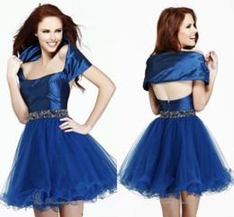 Descuento damas mini vestido vestido Sexy A-line de satén y Organza Minibride vestido de moda Mujeres Jóvenes Mini vestido en Y Off Shawl Señoras vestido de marca de moda