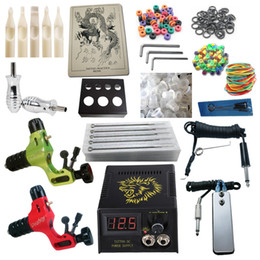 Top Tattoo Kit 2 Prodigy Rotary Machine Guns Power Supply Needles Grips Tips Tattoo Kits RK2-3