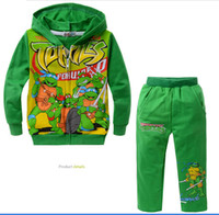 Wholesale hot new FZ201308 green cotton baby clothes Cartoon suits winter Teenage mutant ninja turtles virgin suit