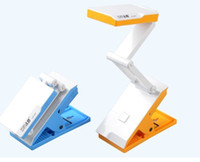 Wholesale Led foldable desk lamp with attaching clamp for reading rechargeable reading light v v led long using battery