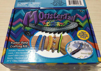 Wholesale Cheap loom monter tail crafting kit Bracelets loom bands DIY toy bands clips hook DHL FREE amp Charm rubber band bracelets