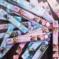 Wholesale Frozen Stationery Doll Ruler Cartoon CM Straightedge CM Folding Ruler