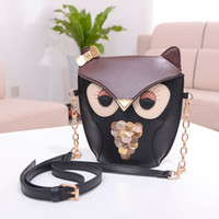 Wholesale Women Owl Shape Shoulder Bags Golden Chain Hangdbags Ladies Cross Body Bags Leather Messenger Bags