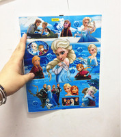 Wholesale Kids Frozen Princess Elsa Anna Fashion Sticker Kid Sonw Queen Tags Children Birthday Christmas Gift Paster Decal BB219
