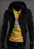 Wholesale Slim Brand Men Jackets autumn and winter outwear coat for men jacket black overcoat H0776