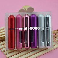 Wholesale 5ML Metal Aluminum Empty Glass Perfume Bottle Spray Bottles Perfume Atomizers Mini Bottles