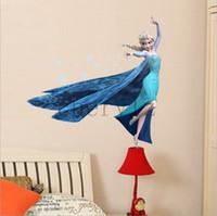 Wholesale Frozen Queen Elsa Princess Art Mural Decal cm Wall Sticker Home Decor Nursery Christmas Gift BB220