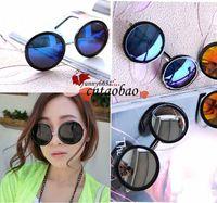 Wholesale promotion New Vintage Retro Steampunk Mens Sunglasses Round Circle Flip Up Women Sunglasses Round Glasses For Women