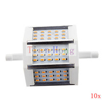 10x SMD 3014 45LEDs R7S 6W Corn Bulb 100v- 265v Replacement f...