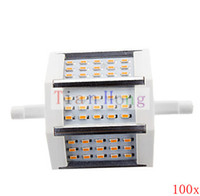 100x SMD 3014 45LEDs R7S 6W Corn Bulb 100v- 265v Replacement ...