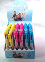 Wholesale New Sale Box Children Cartoon Frozen Inks Ballpoint Pen Stationery School Party Supply Favor