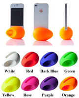 For Apple iPhone audio amplifier stands - Mini Portable Music Egg Audio Horn Silicone Rubber Dock Stand Holder Loud Speaker Sound Box Amplifier for iPhone S S