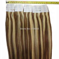 Brazilian Hair Ombre Color Straight #8&613 Brazilian Remy Human Hair Tape In Extensions,Mixed Color,Free Shipping