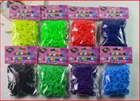 Wholesale Loom bands charms bands Kit DIY Wrist Bands Rainbow Loom Bracelet for kids Silicone Rubber Bands in stock S clips hook Free Ship