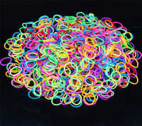 Wholesale Loom bands charms bands Kit DIY Wrist Bands Rainbow Loom Bracelet for kids Silicone Rubber Bands in stock pack S clips hook