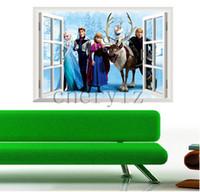 Wholesale Frozen Sticker cm Queen D Window Wall Sticker Viny Mural Decal Kids Home Decor Christmas Gift BB221