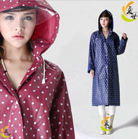 Wholesale E Packet split raincoat fashion dry super waterproof women s long design with a hood poncho