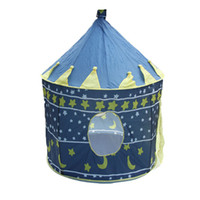 Tents Animes & Cartoons Cloth Ultralarge Children Beach Tent Baby Toy Play Game House Kids Princess Prince Castle Indoor Outdoor Toys Tents Christmas Gifts