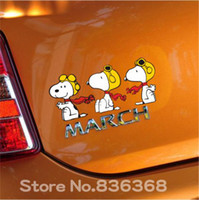 Wholesale snoopy Car accessories Decals reflective motorcycle stickers on cars vinyl car sticker funny focus for car stickers cruze