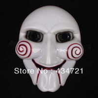 Wholesale HHot saleing Cosplay Saw Puppet Masquerade Horror Scary Mask Chainsaw Massacre Party