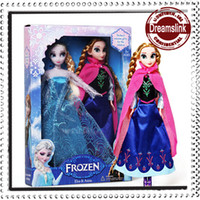 Wholesale 2014 Hot Sale Frozen Toys Princess Anna Elsa Classic Toys Set Frozen Toys Baby Cartoon Toys Real eyelash