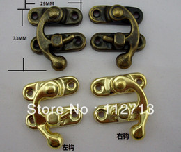Wholesale pengmall222 mm buckle dark wooden box packing box parts buckle clasp Box buckle latch hook small shackle bronze lock horns