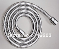 Plumbing Hoses Yes White Free shipping 1.5m Stainless Steel Pipe Chrome Hand Shower Water Hose EPDM Inner With Copper Nut - Brand New