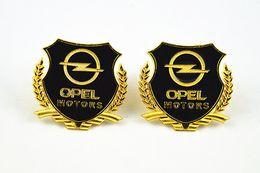 Hot sale 2 pcs car emblem sticker opel metal decorate accessories Side emblems metal emblem free shipping